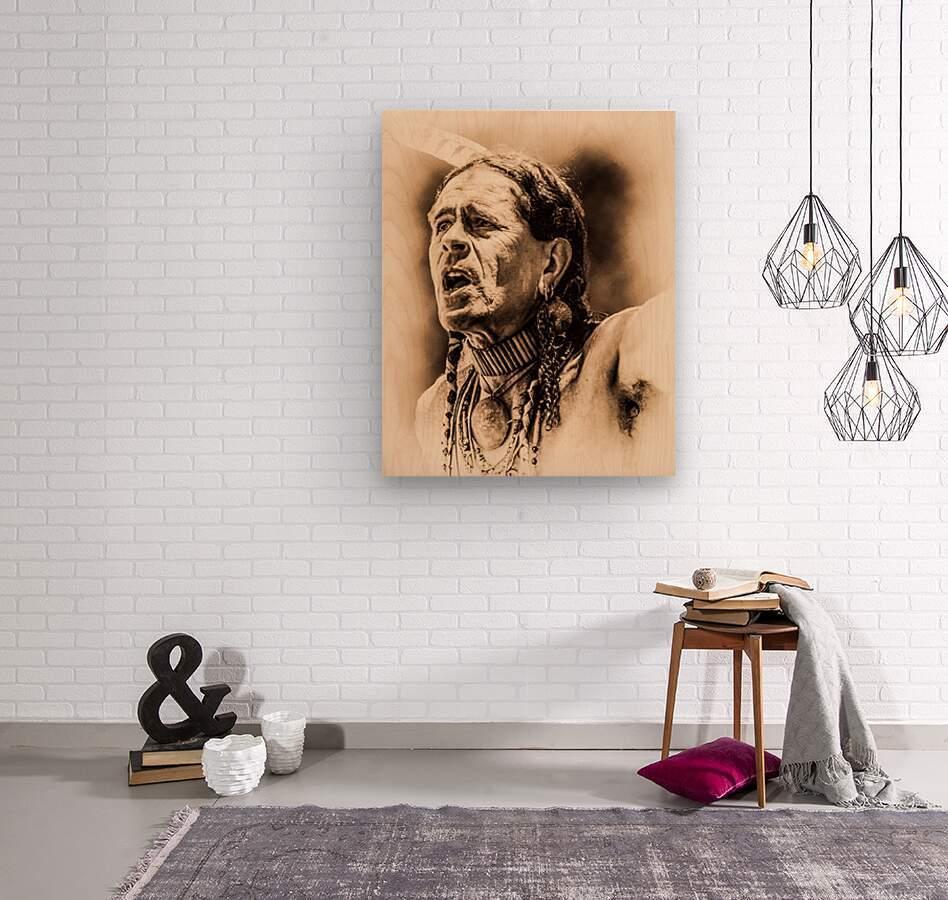 Native American 15  Wood print