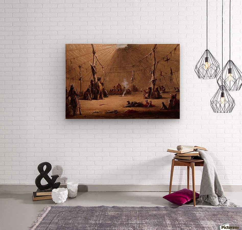 Indian Lodge  Wood print