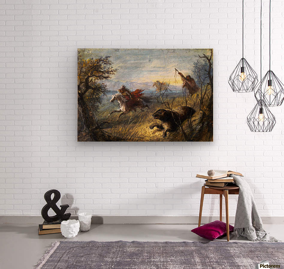 Grizzly Bear Hunt  Wood print