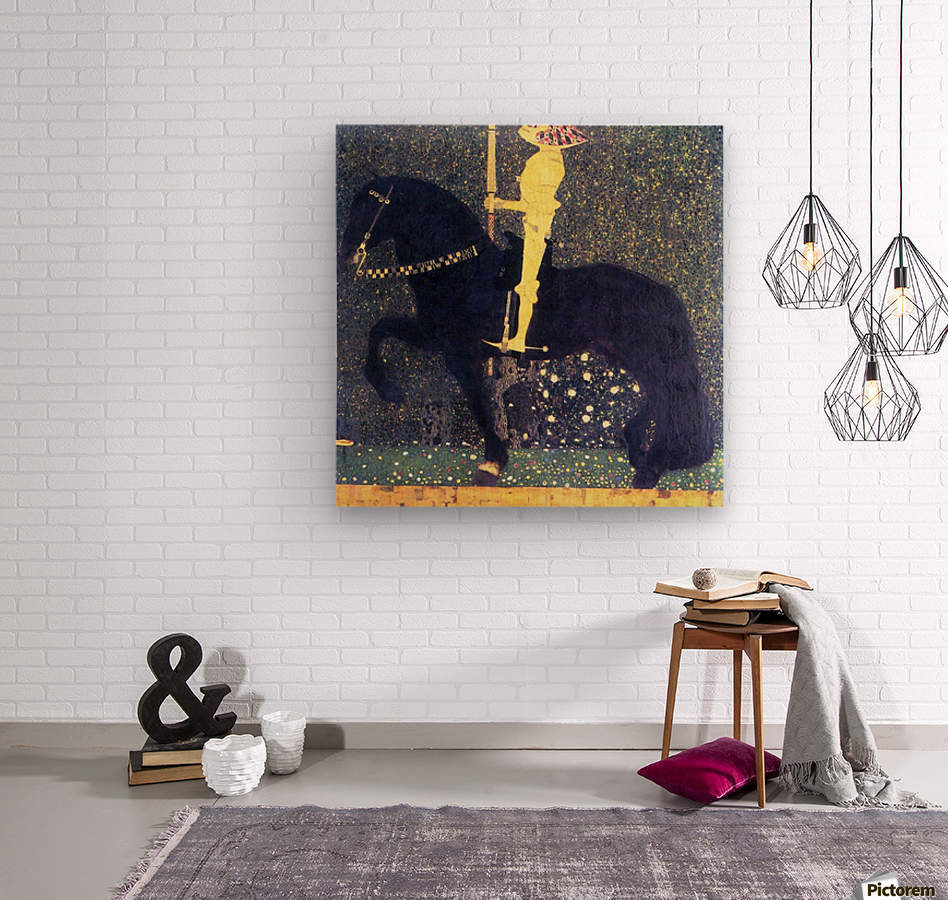 The life of a struggle (The Golden Knights) by Klimt  Wood print