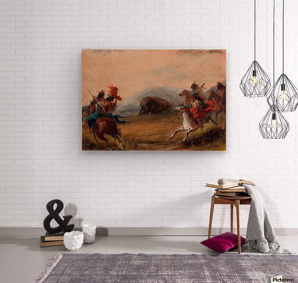 Wounded Buffalo  Wood print
