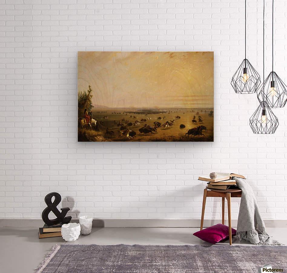A surround  Wood print