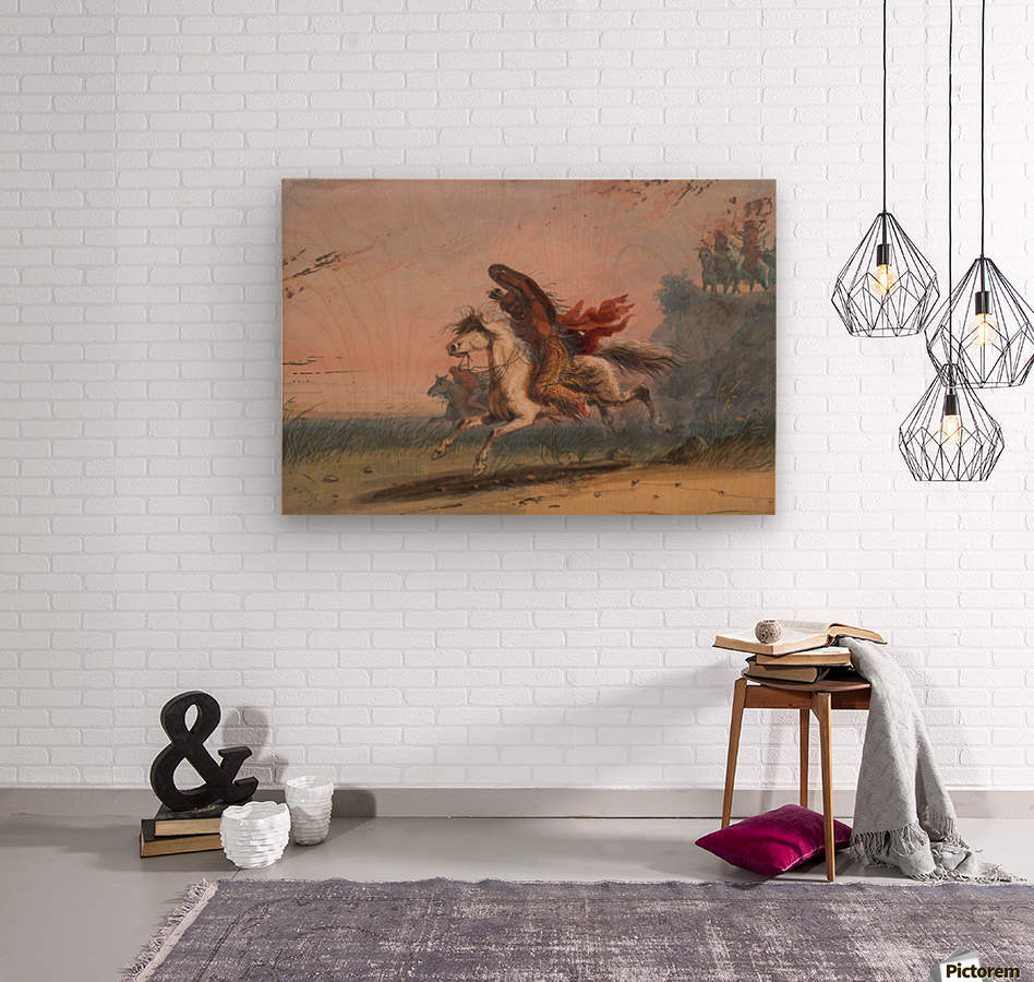 Indian Beating a Retreat  Wood print