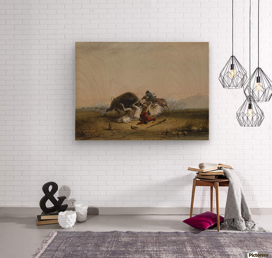 Pierre and the Buffalo  Wood print