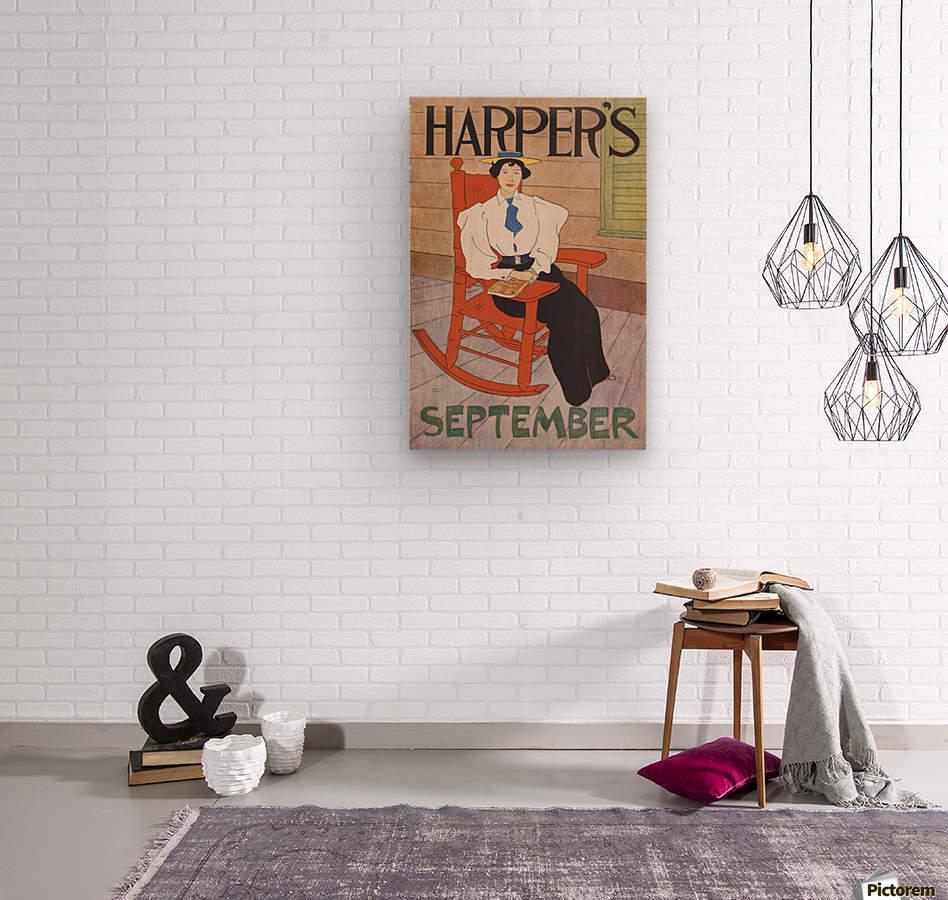 Harper's September  Wood print