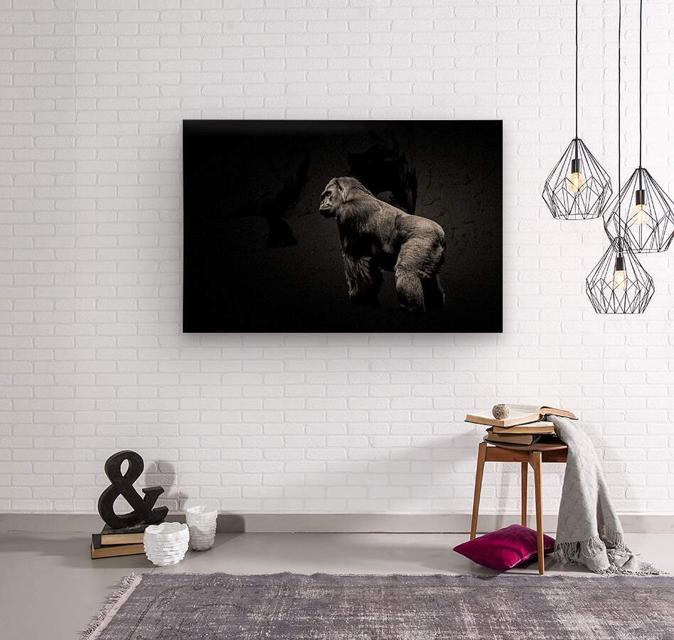 Silverback Gorilla Edit Edit  Wood print