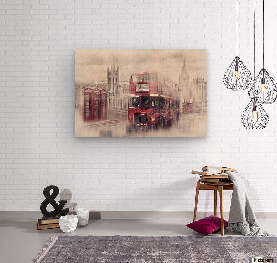 City-Art LONDON Westminster Collage II  Wood print