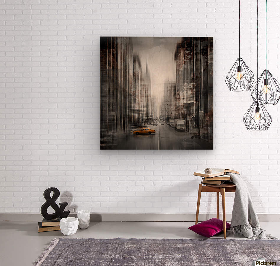 City-Art NYC 5th Avenue  Wood print
