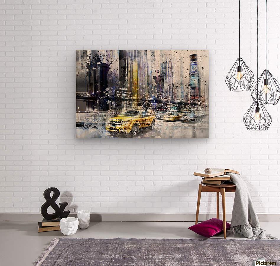 City-Art NYC Collage  Wood print