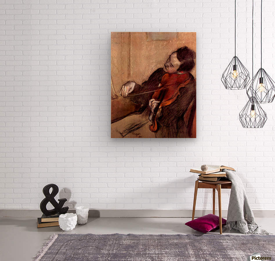 The violinist 1 by Degas  Wood print