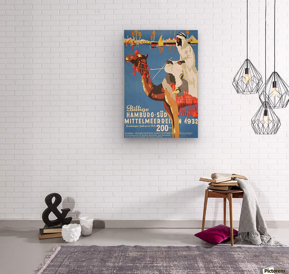 Hamburg-Sud Billige Mittelmeerreisen Original Poster  Wood print