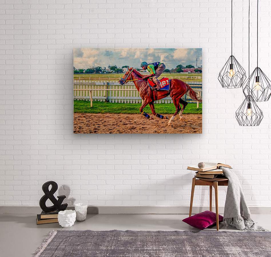 Racehorse10  Wood print