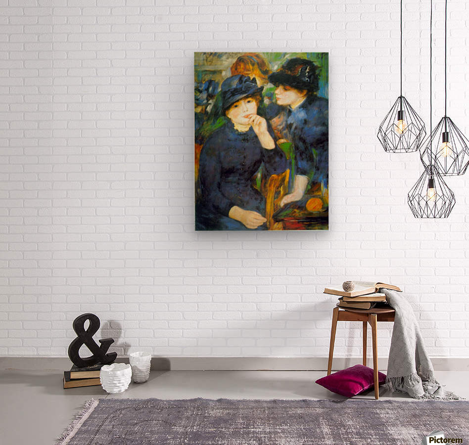 Two Girls by Renoir  Wood print