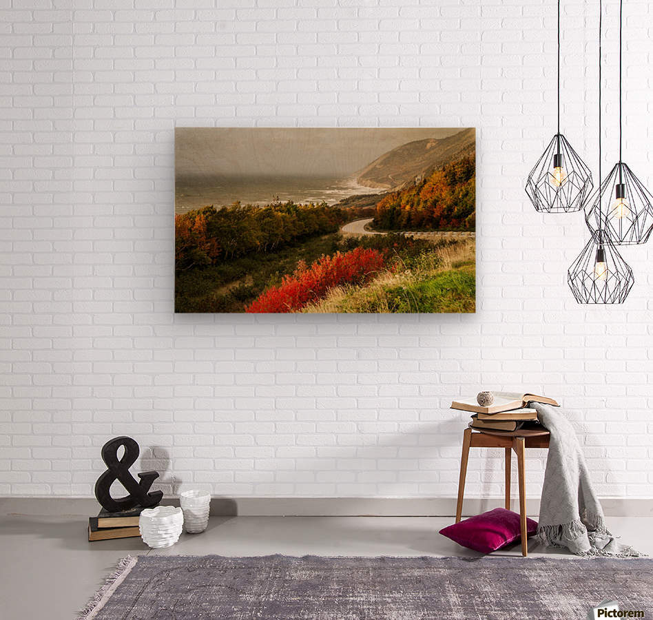 Autumn on the Cabot Trail  Wood print