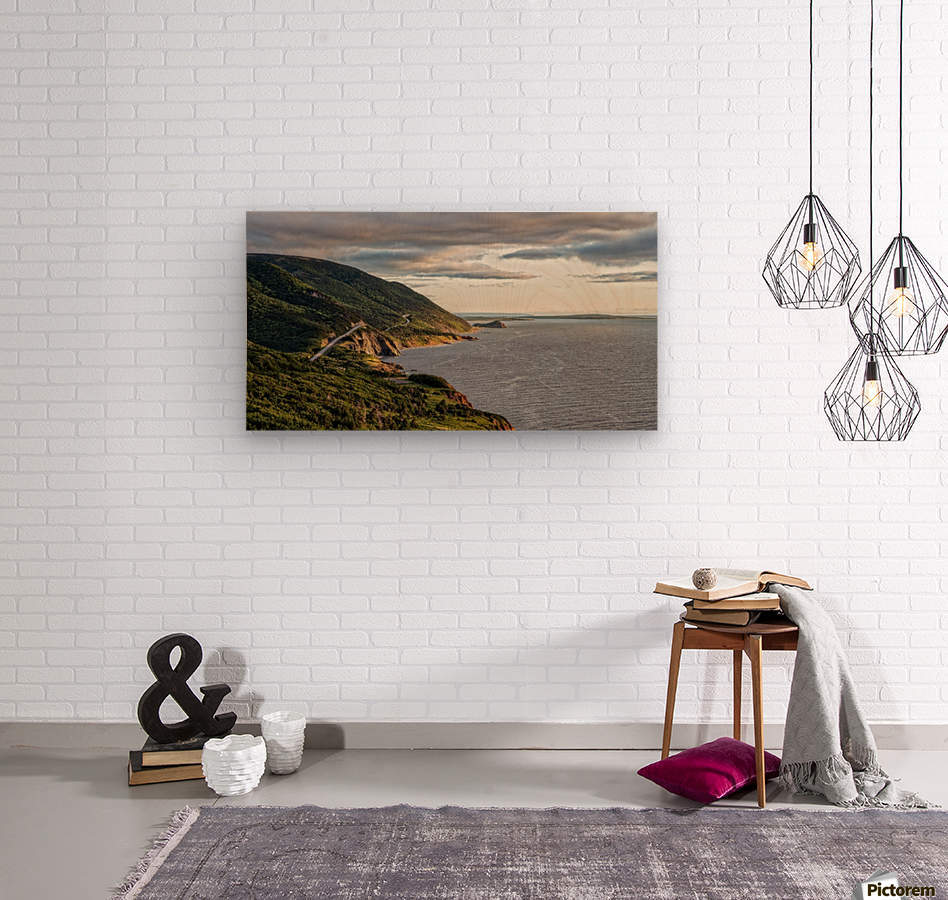 Summer on the Cabot Trail  Wood print