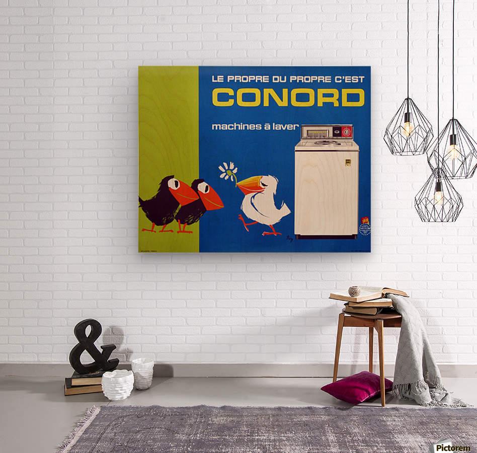 Original Appliance Poster, Conord Birds, 1960  Wood print