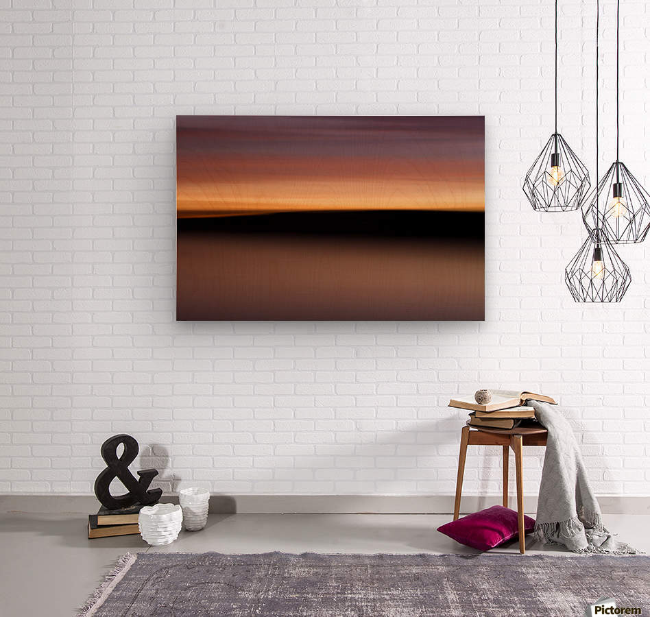 Sunset Motion  Wood print