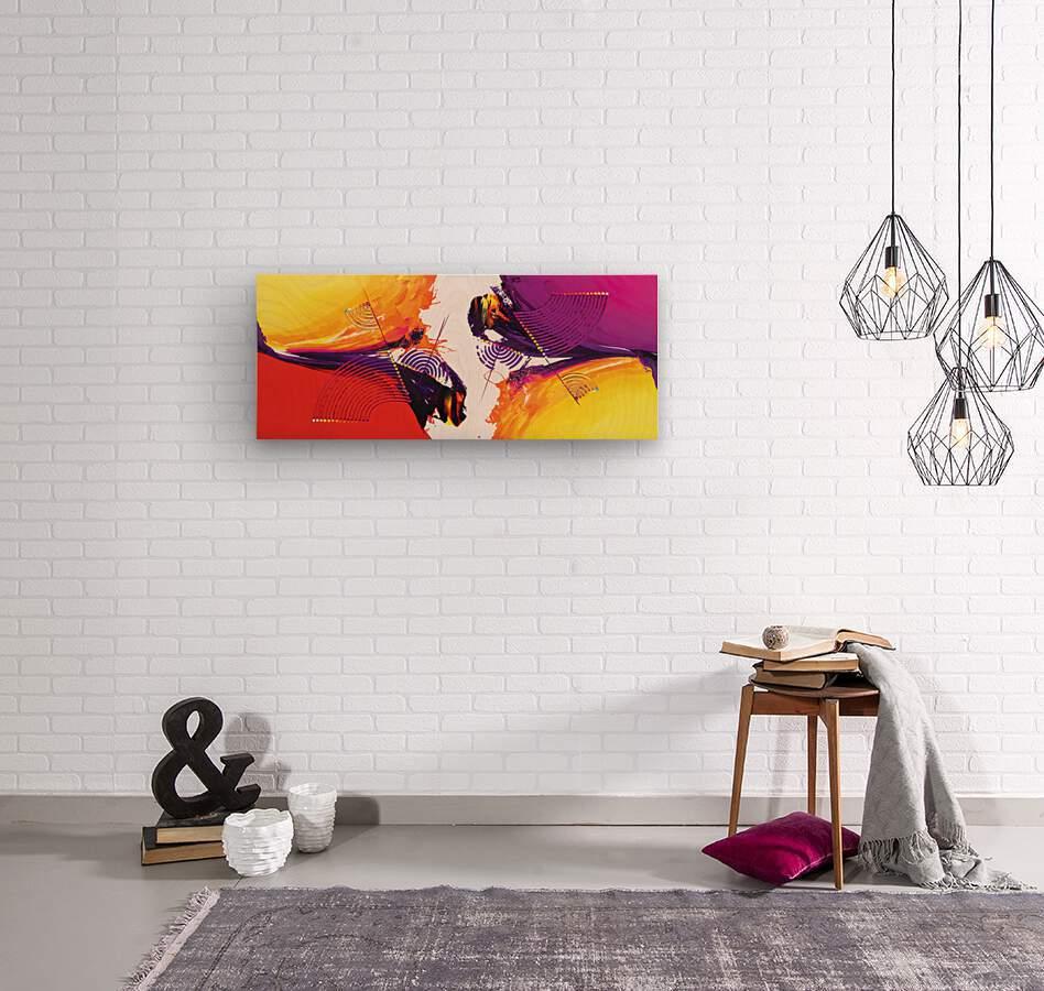 Abstract Art Britto - QB188  Wood print