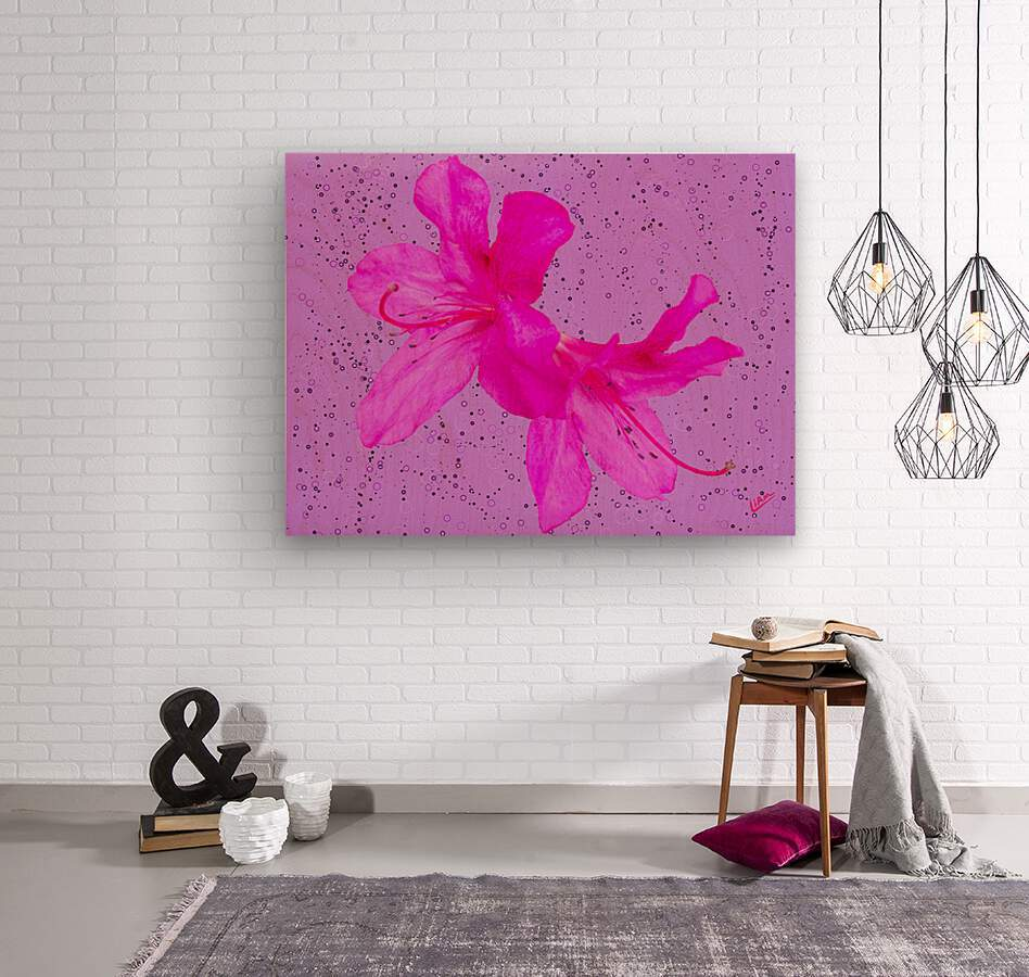 Think Pink  Wood print