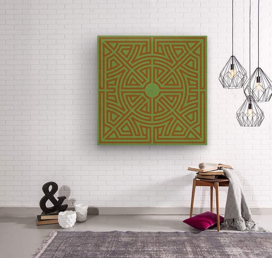 Labyrinth 6001  Wood print