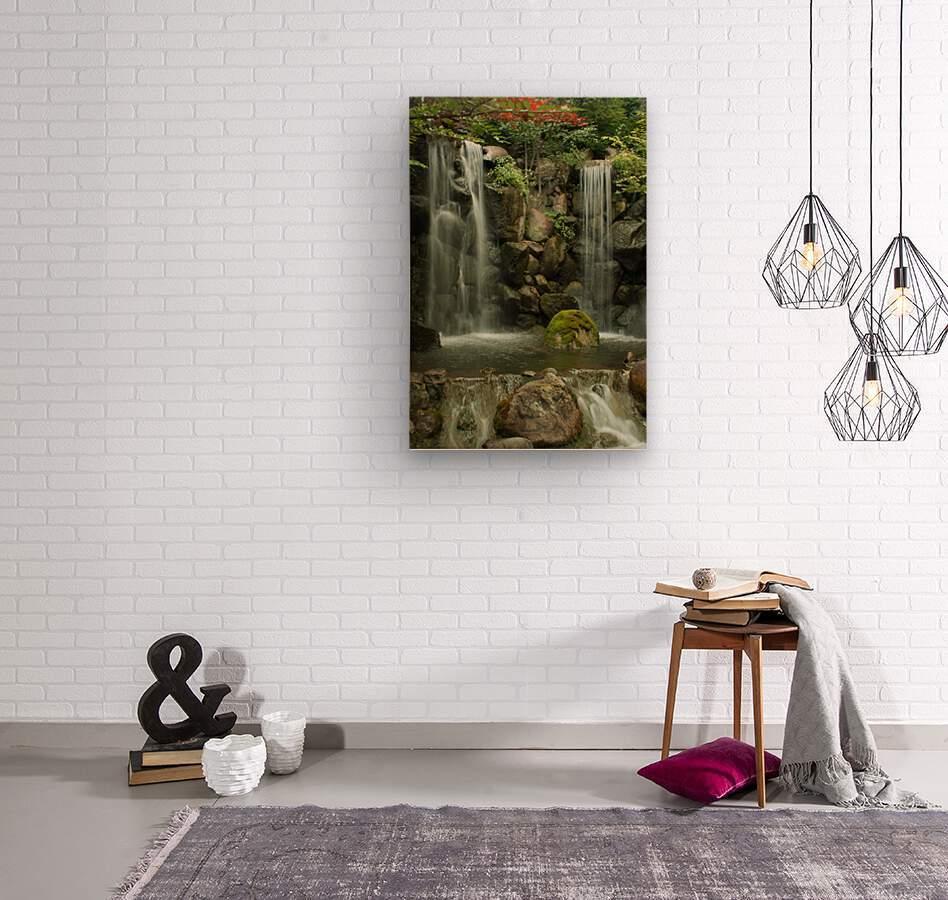 Japanese Waterfalls  Wood print