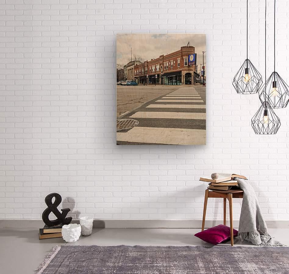 Strolling Down the Street  Wood print