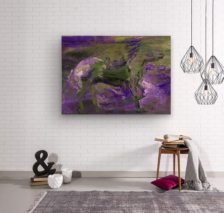 Ghost Rider - Violet  Wood print