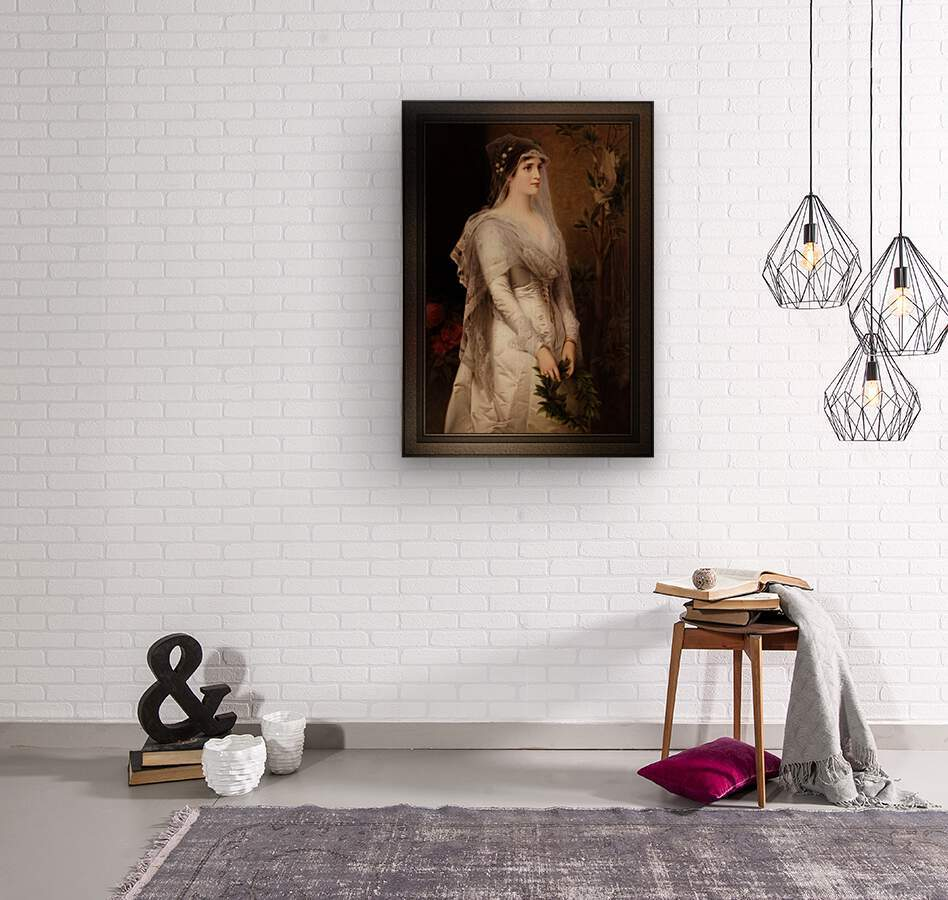 Laura by Conrad Kiesel Classical Art Xzendor7 Old Masters Reproduction  Wood print