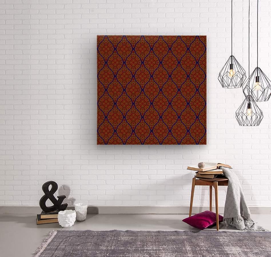Mosaic 57  Wood print