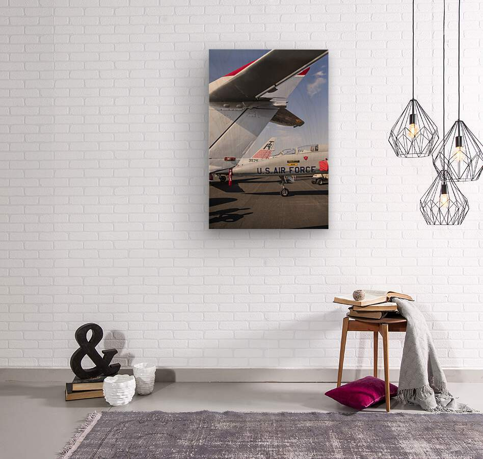 A Line of Planes  Wood print