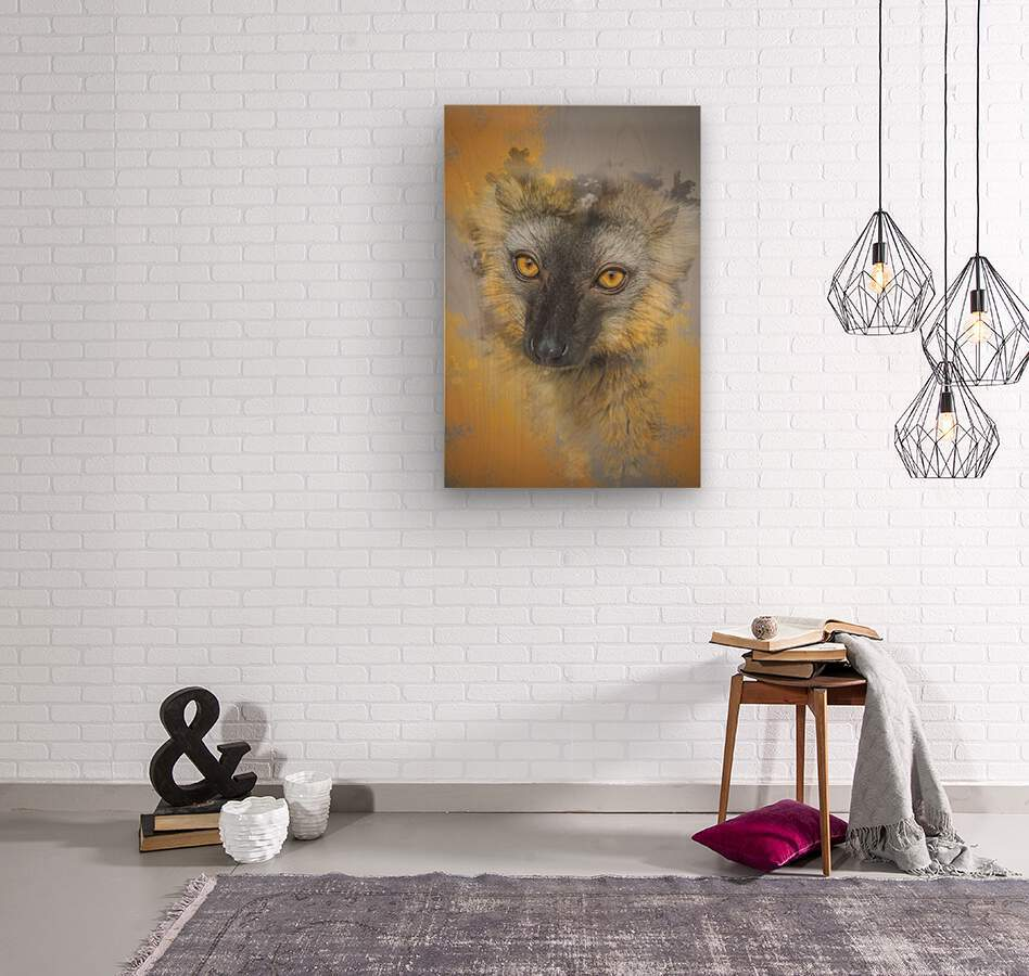 Lemurien  Wood print