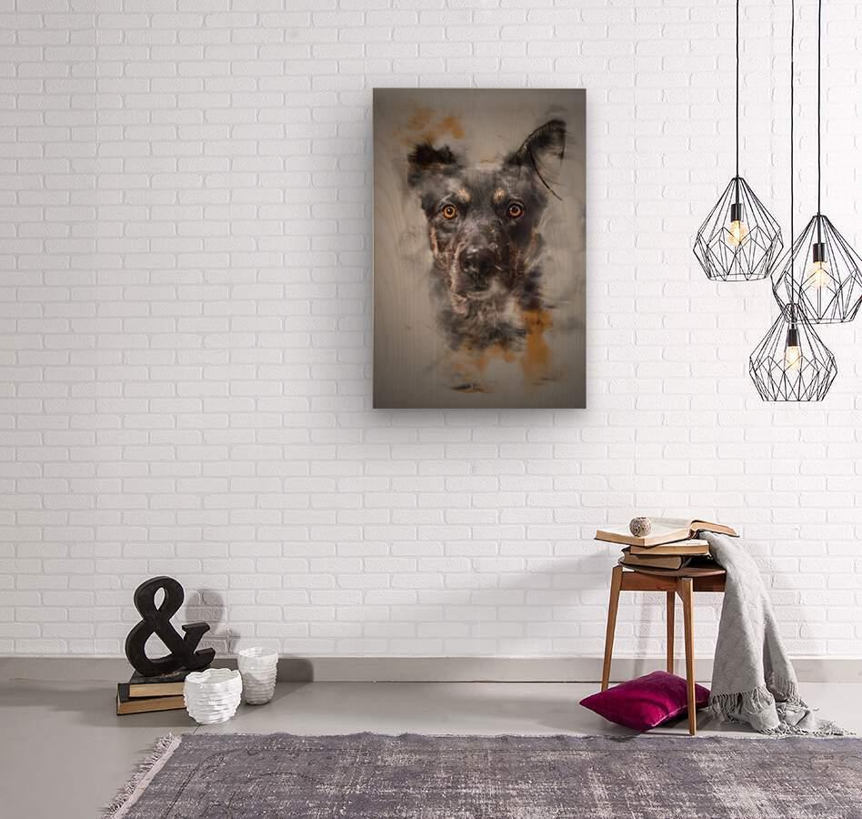 Chien  Wood print