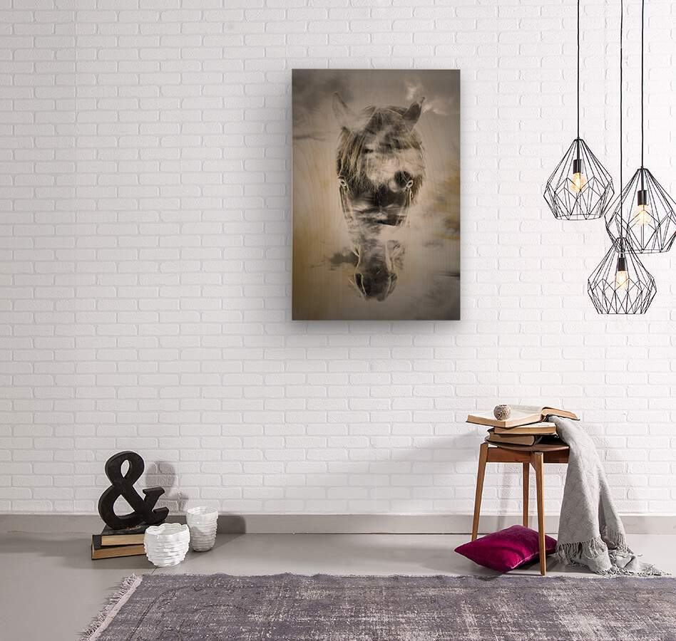 Cheval  Wood print