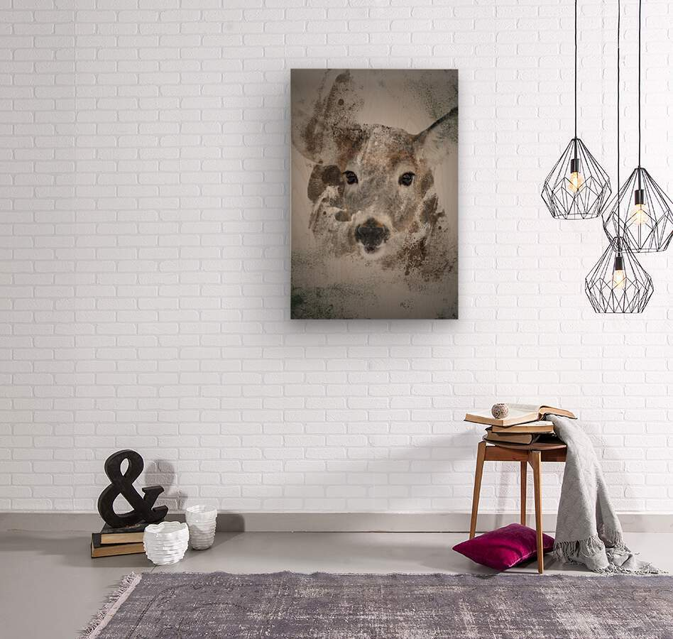 Cerf   Wood print