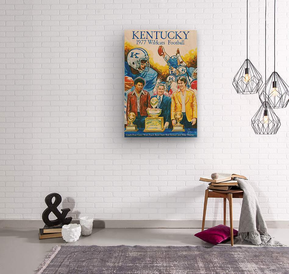 1977 Kentucky Football Poster  Wood print