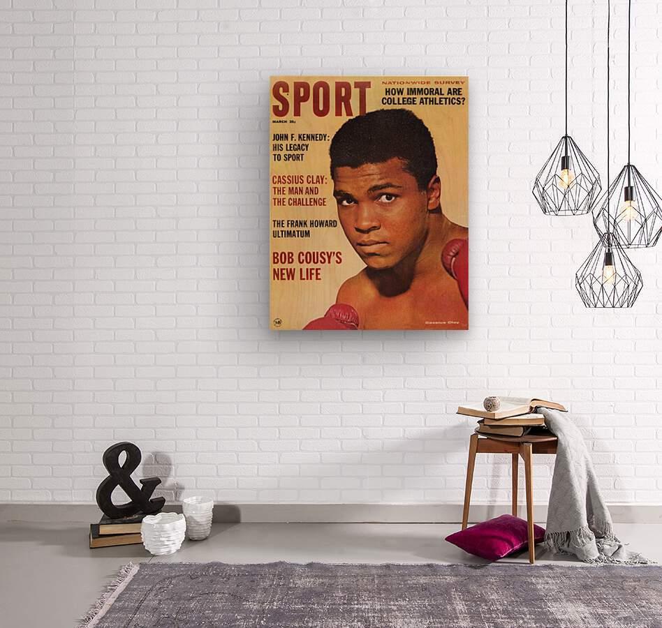 1964 Sport Magazine Muhammad Ali Cover  Wood print