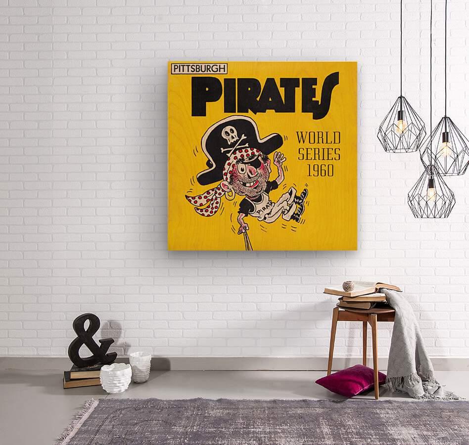 1960 Pittsburgh Pirates World Series Art  Wood print