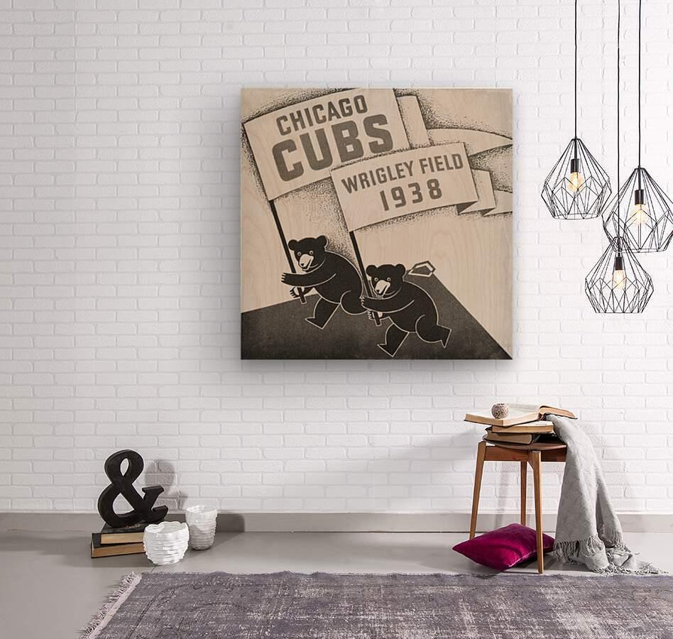 1938 Chicago Cubs Remix Row 1  Wood print
