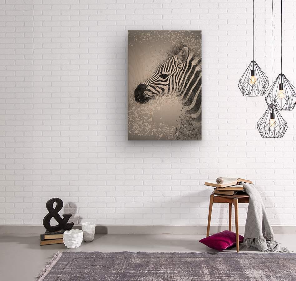 zebre 2  Wood print