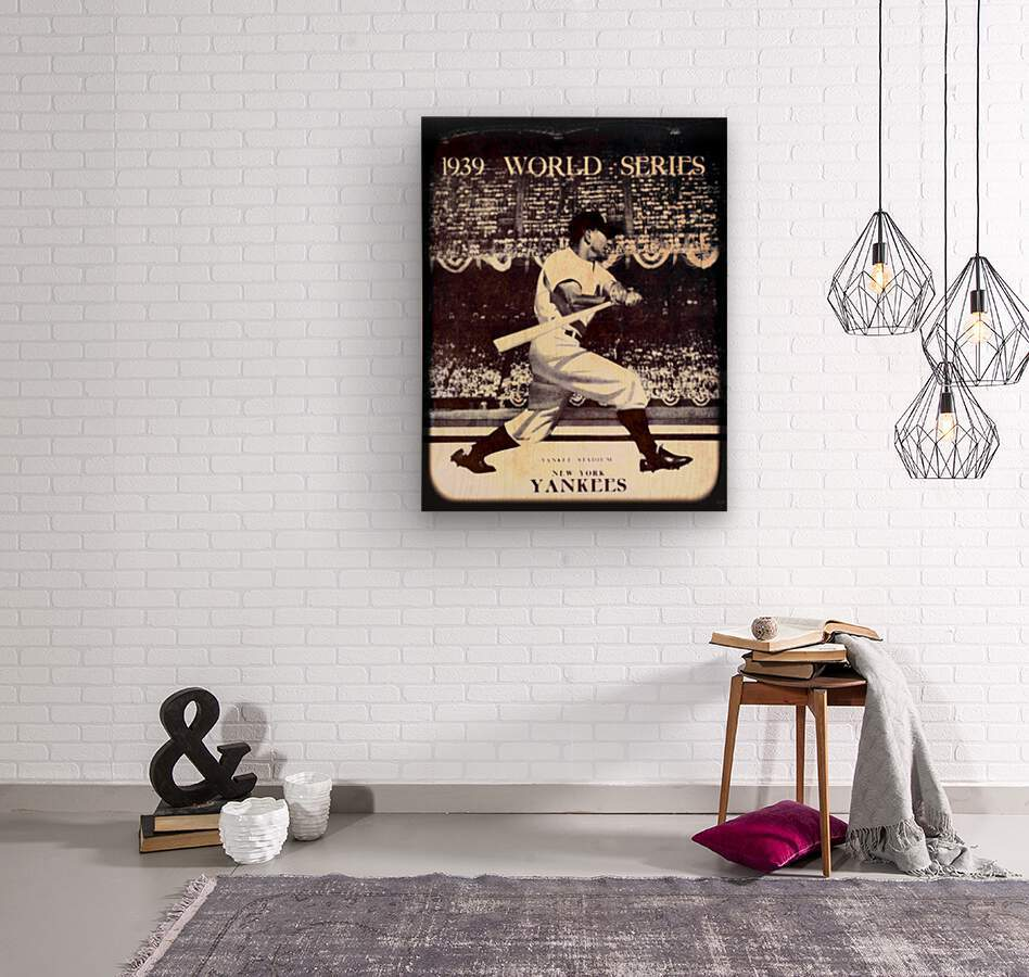 1939 Vintage World Series Program Cover Art Remix by Row 1  Wood print