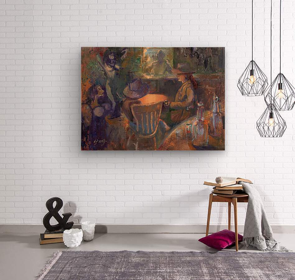 Wild West Brothel on the American Frontier  Wood print