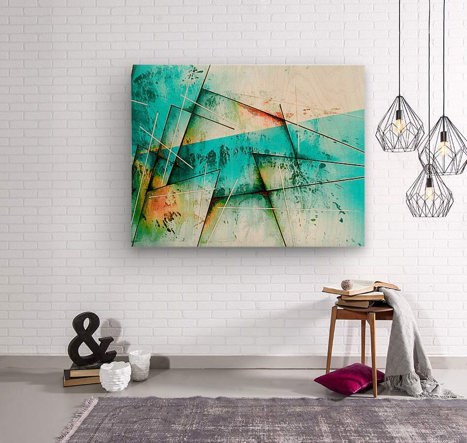 ABSTRACT ART BRITTO QB300B  Wood print