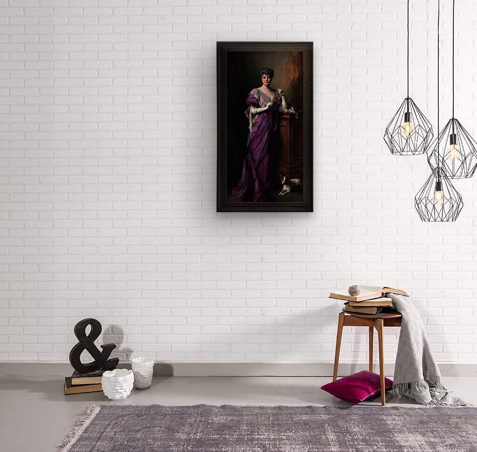Lady White Todd by Philip de Laszlo Classical Fine Art Xzendor7 Old Masters Reproductions  Wood print