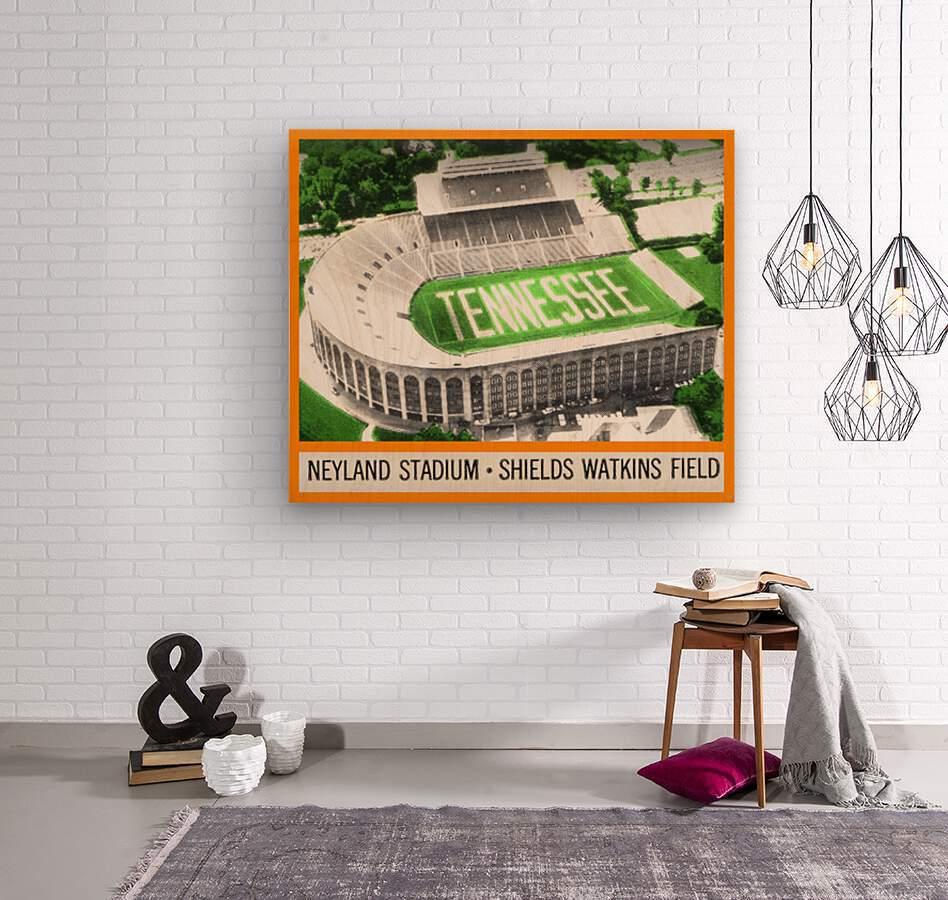 1964 Tennessee Vols Football Ticket Stub Remix  Wood print
