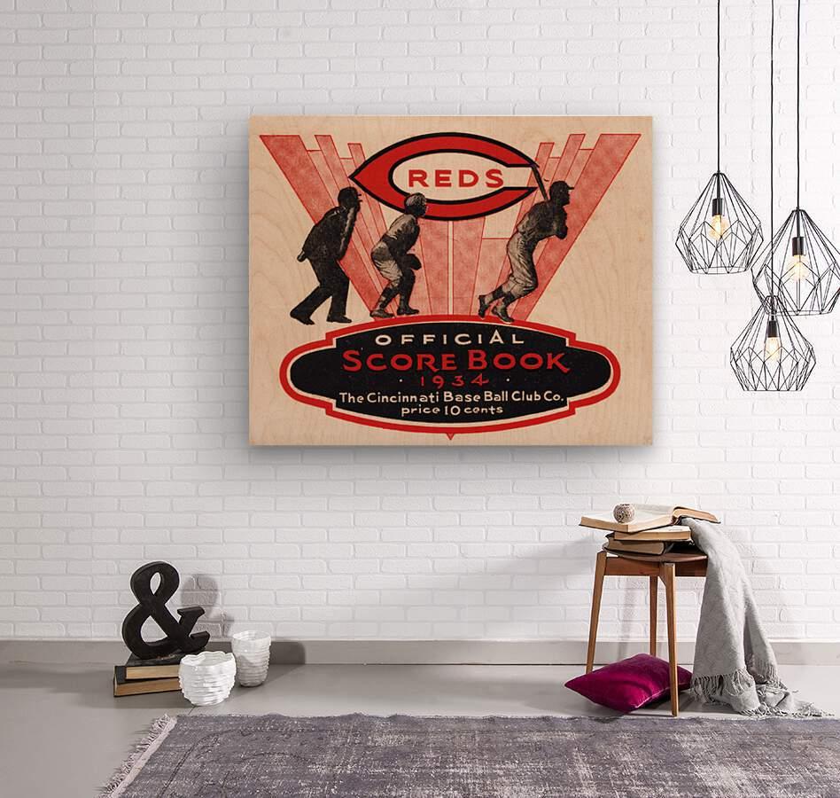 1934 Cincinnati Reds Score Book Metal Sign  Wood print