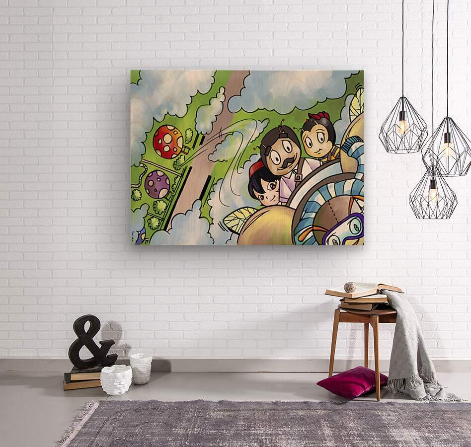 Let Your Dreams Take Flight - A Dream of Tomorrow  - Bugville Critters  Wood print