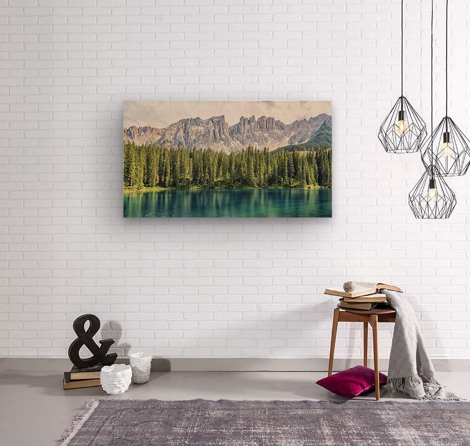 Turquoise Lake  Wood print