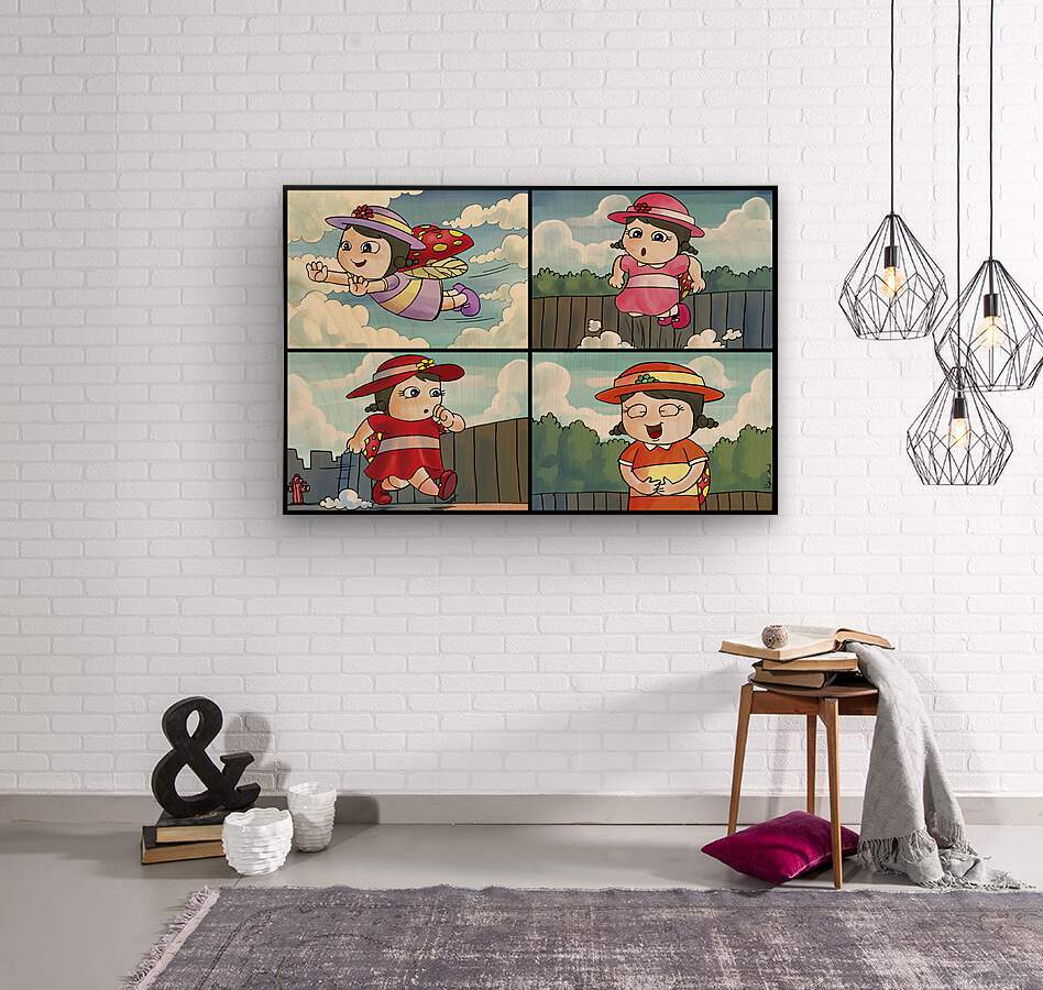 Lass the Ladybug on the Go   4 panel Favorites for Kids Room and Nursery   Bugville Critters  Wood print