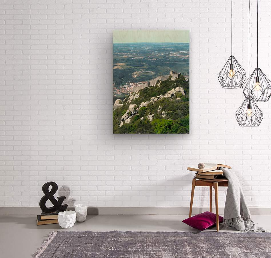 Castelo dos Mouros - Castle of the Moors - Sintra Portugal  Wood print