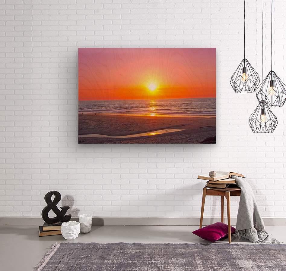 Serenity Found - Calming Atlantic Sunset in Portugal  Wood print